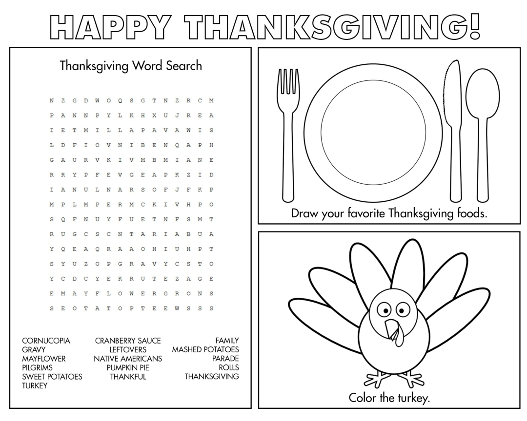 thanksgiving coloring pages and crafts free printable coloring