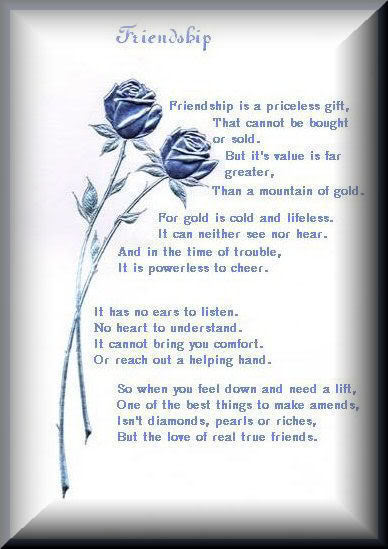 Friendship Poems for Best Friends