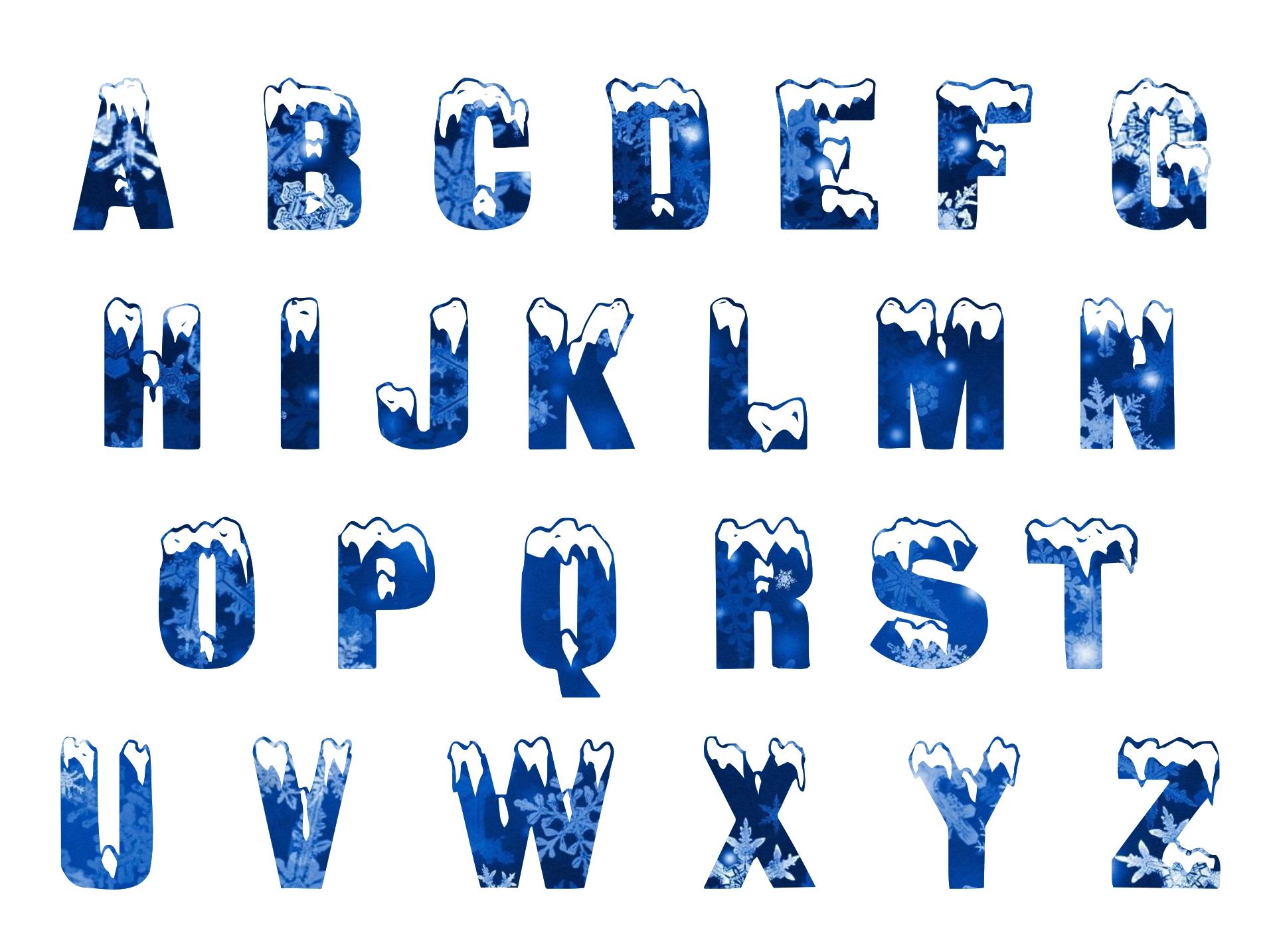 Frozen Alphabet Clip Art
