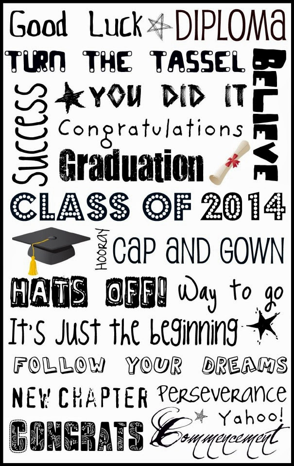 6 Images of Printable Subway Art Graduation 2014