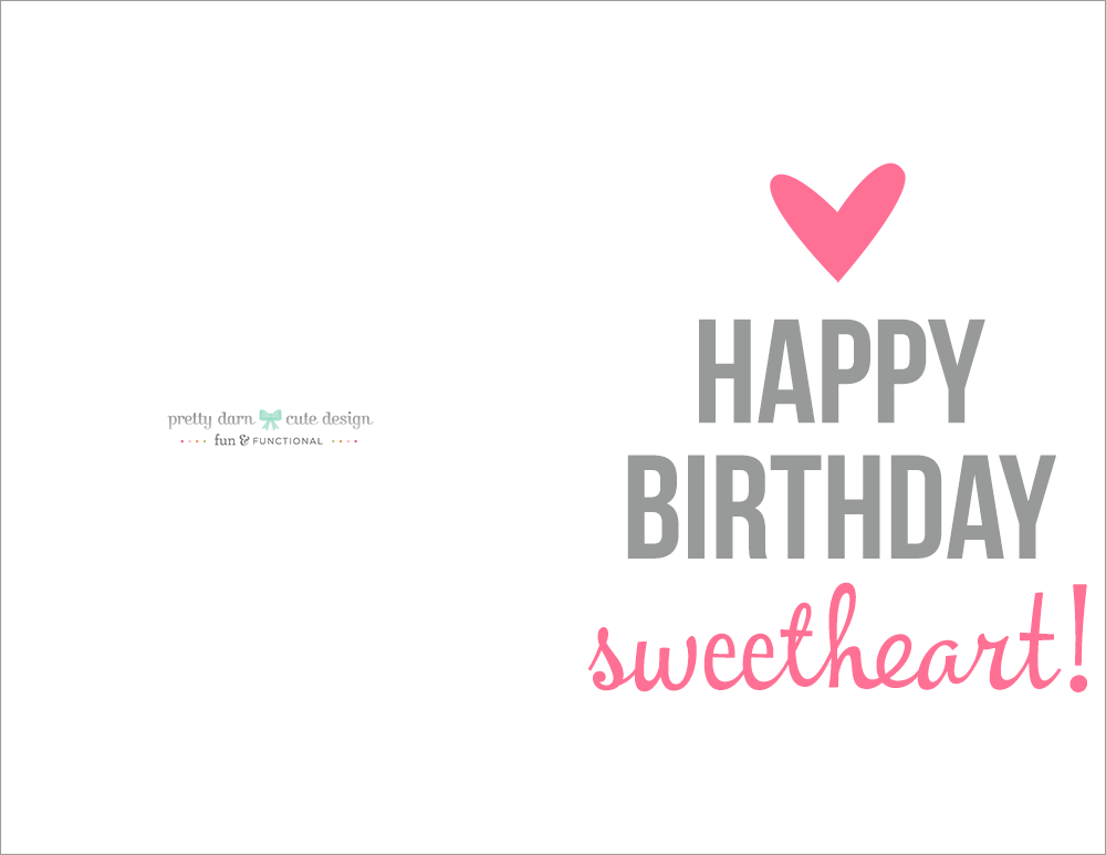 Happy Birthday Cards Printables
