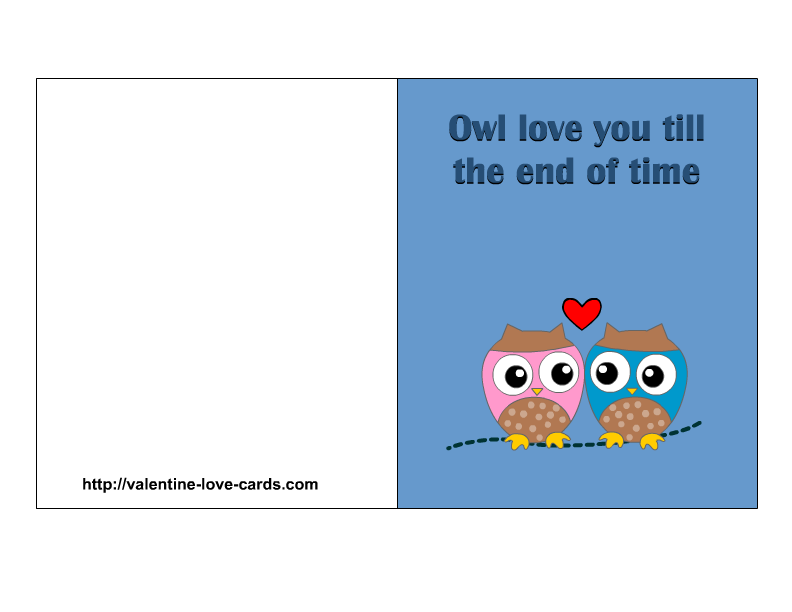 6 Images of I Love You Printable Cards
