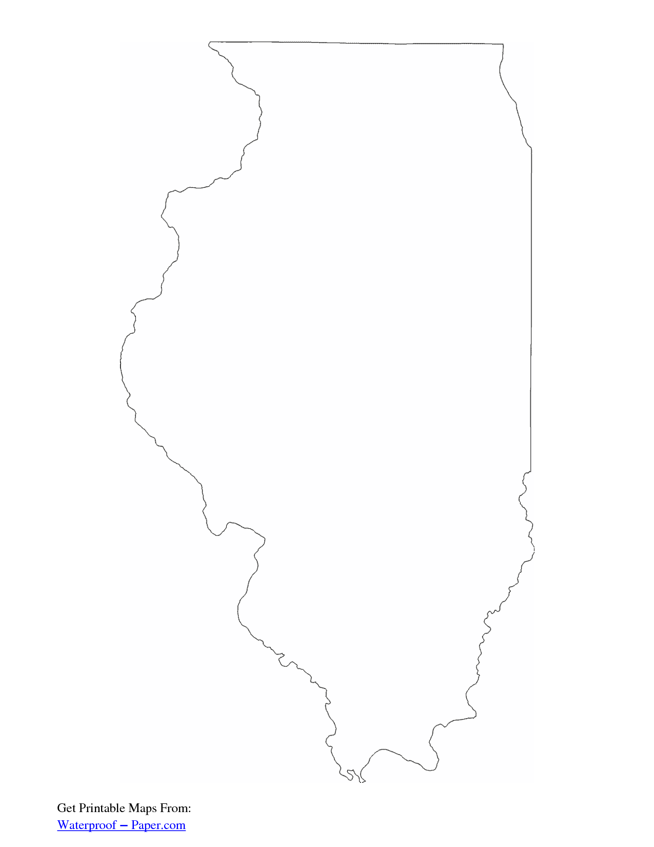 Illinois State Map Outline