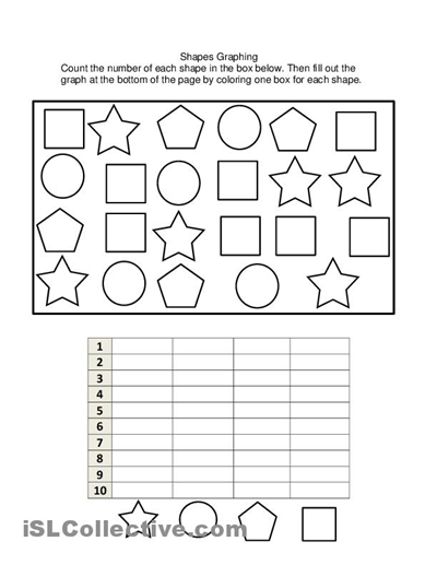 math worksheet : 6 best images of kindergarten graphing printable worksheets  : Math Worksheets Graphing