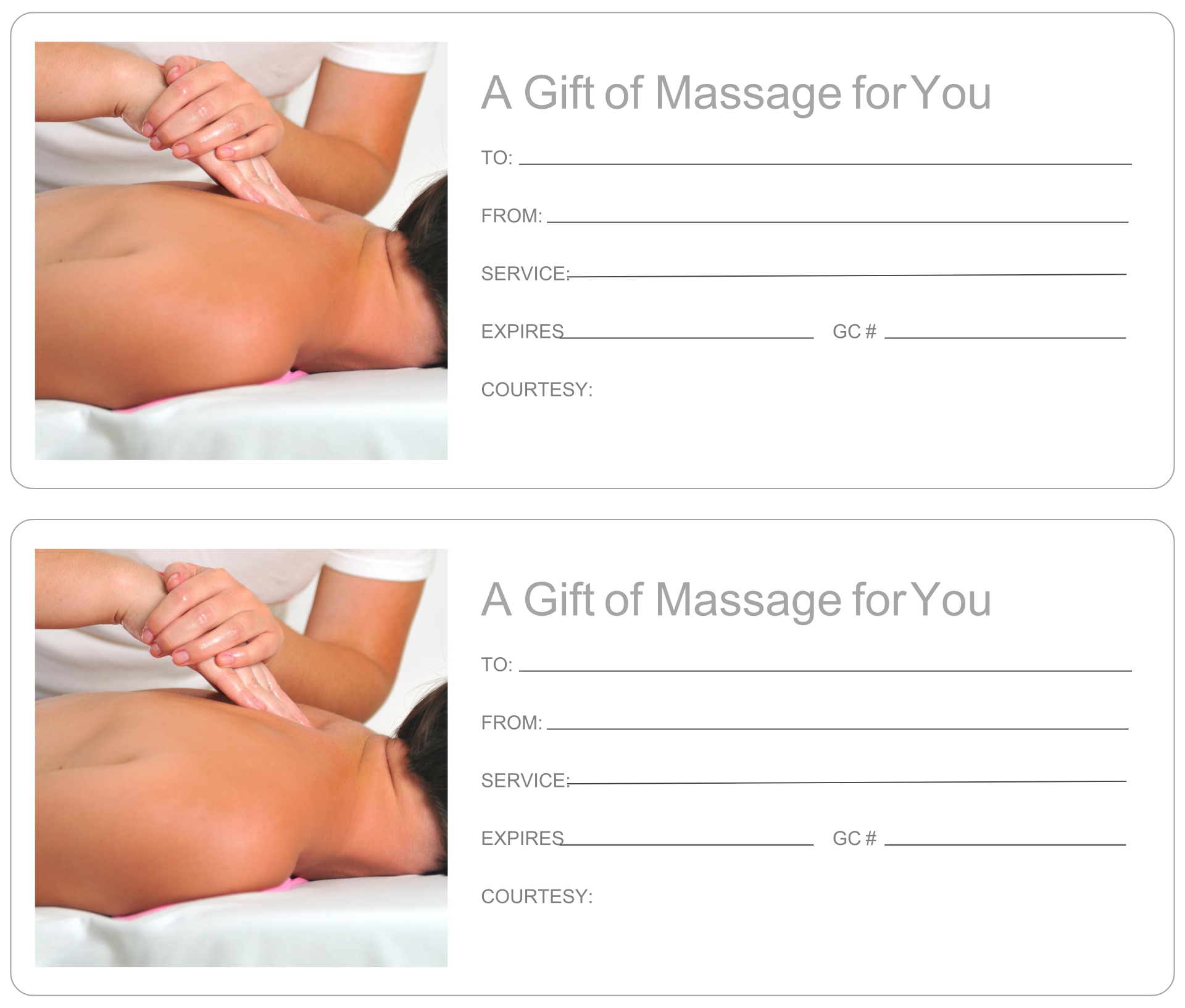 5 best images of printable massage gift certificate