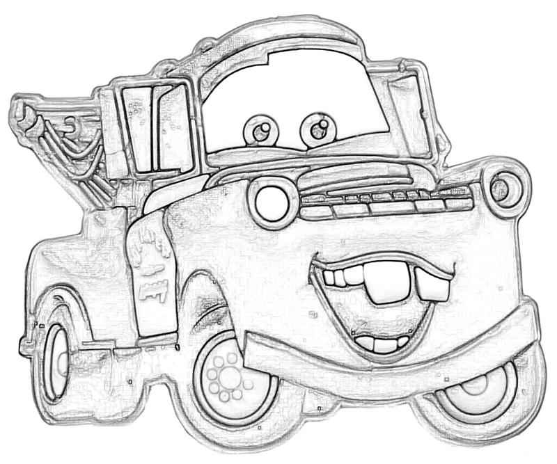 mater from cars coloring pages - photo#5