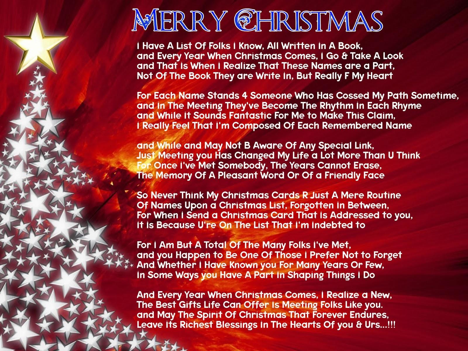 Merry Christmas Best Friend Poem