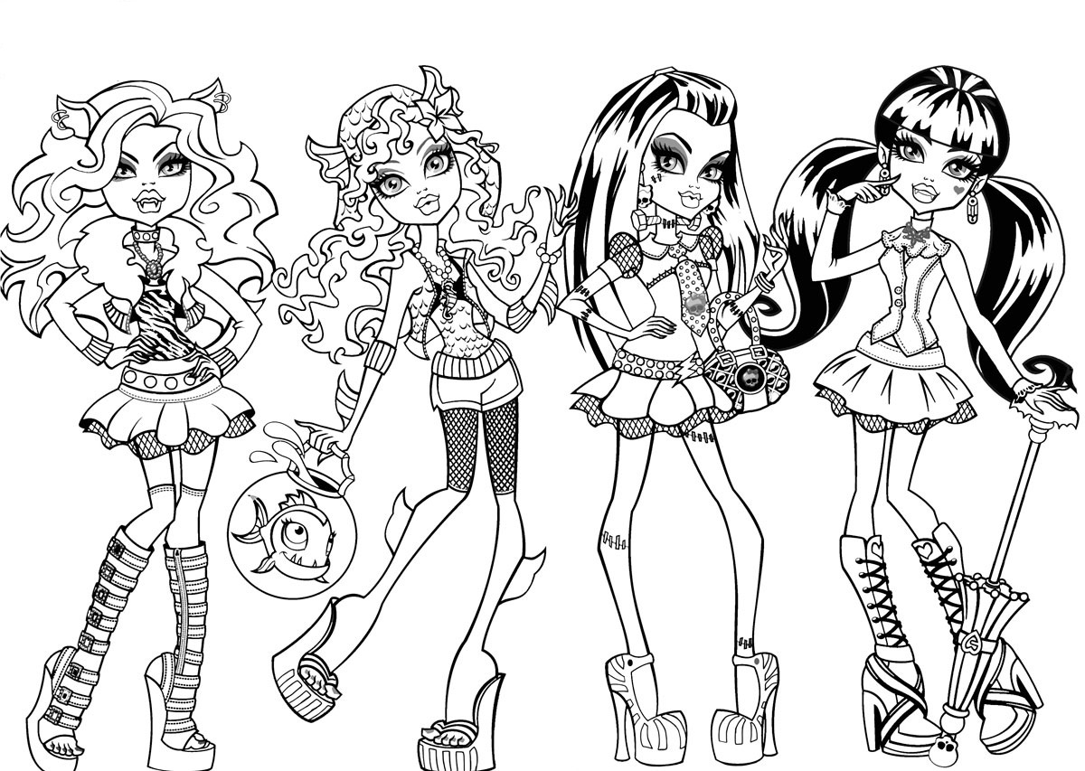 6 Images of Monster High Printable Coloring Pages