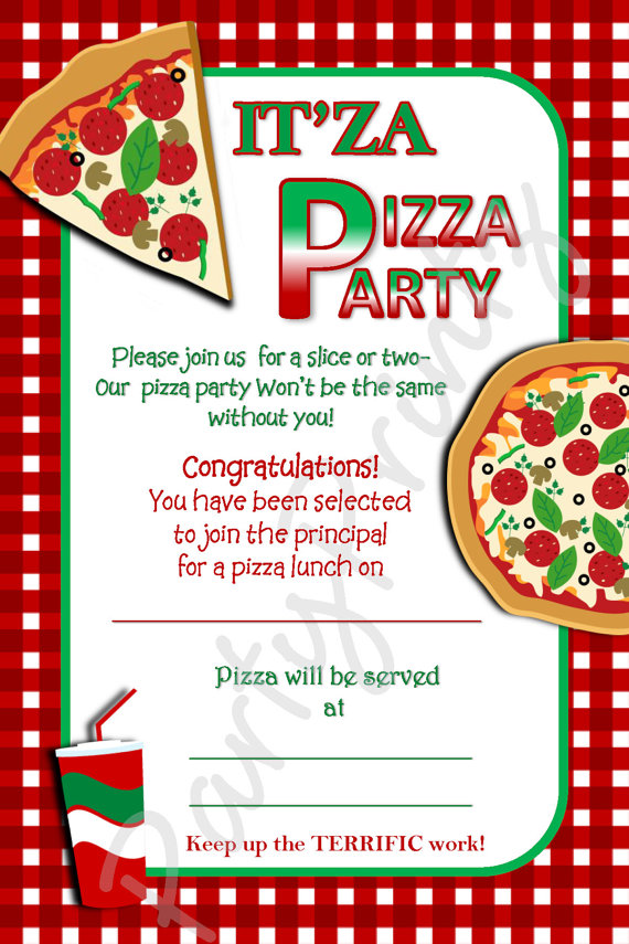 8 Images of Printable Pizza Invitations