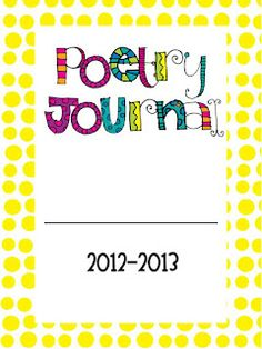 6 Images of Printable Poetry Journal Covers