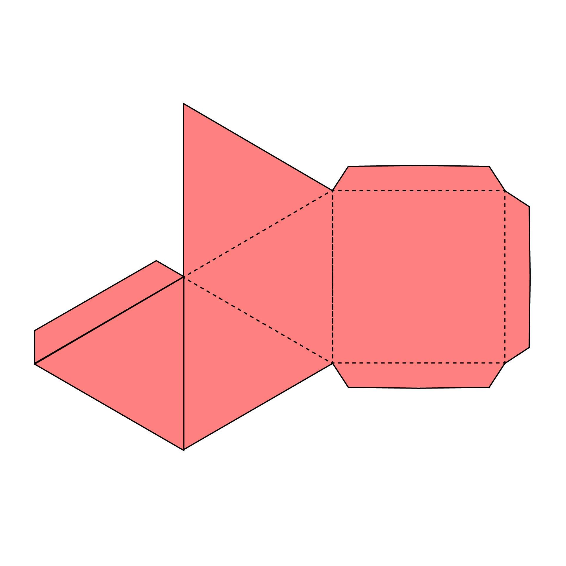 Printable 3D Shapes Cut Out