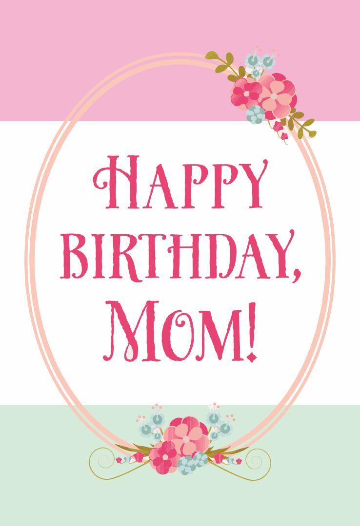 Printable Birthday Cards Mom