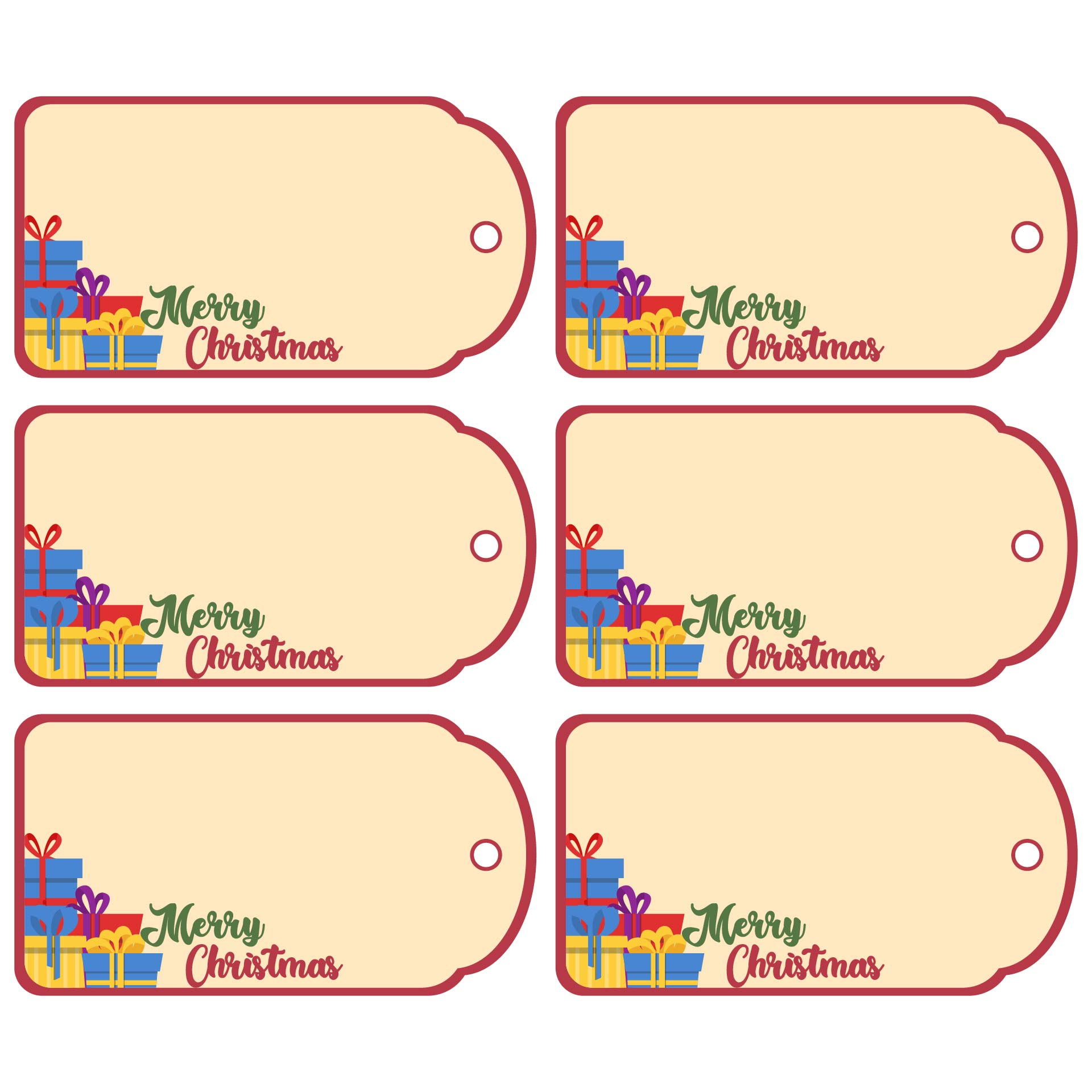 7 Best Images of Blank Printable Christmas Tags - Blank ...
