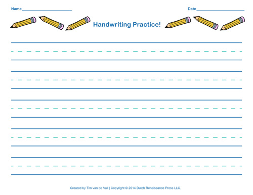 Free Worksheets Free Printable Handwriting Worksheets For – Printable Handwriting Worksheets
