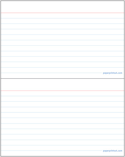 9 Images of Printable Index Cards With Lines