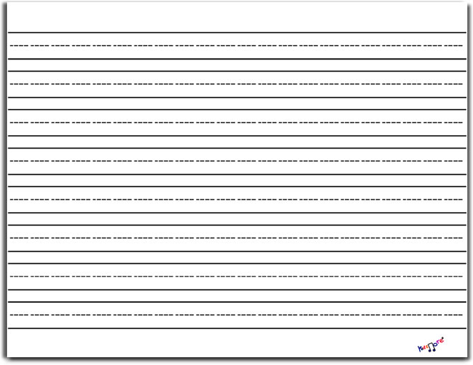8 Images of Printable Lined Writing Paper Landscape