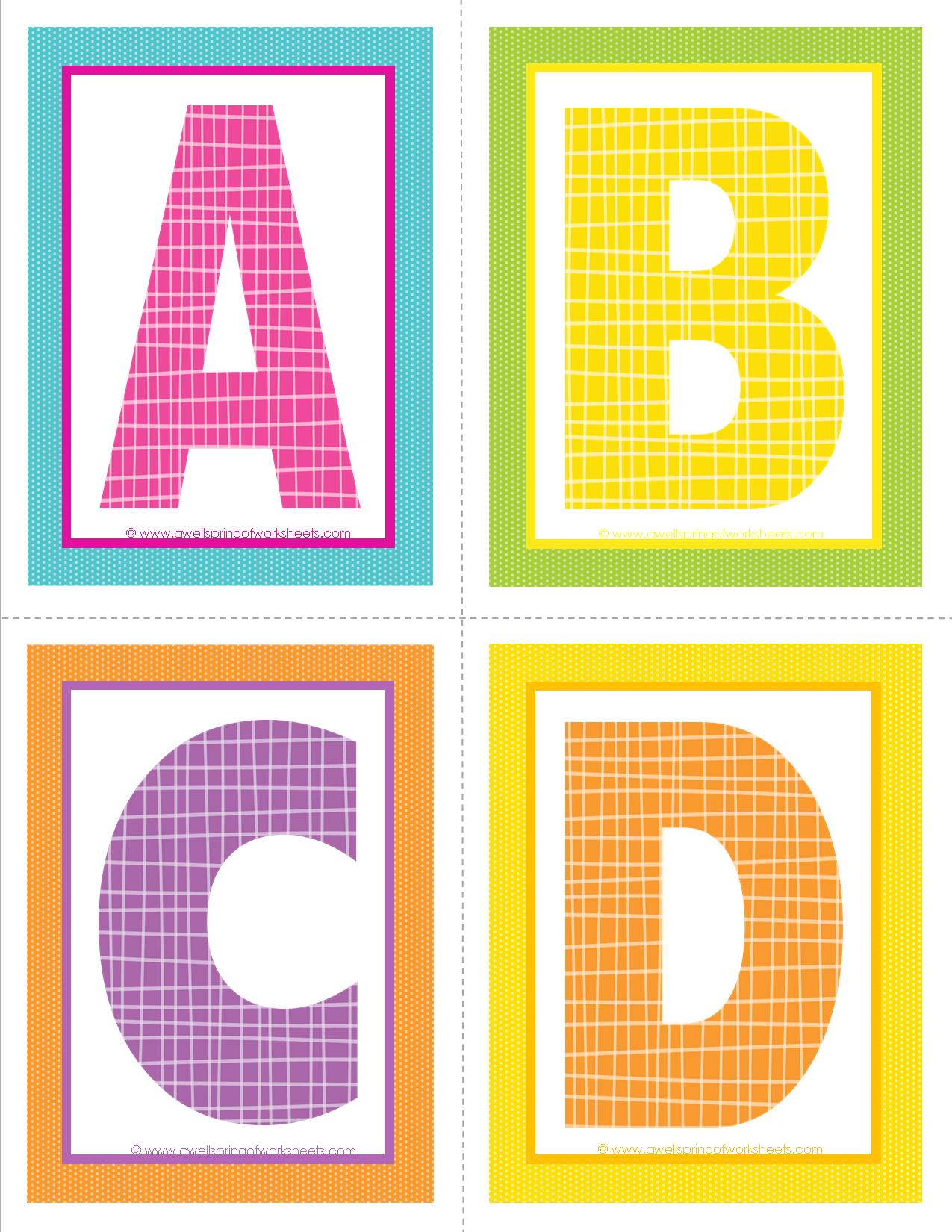 It's just a photo of Fabulous Printable Letters of the Alphabet