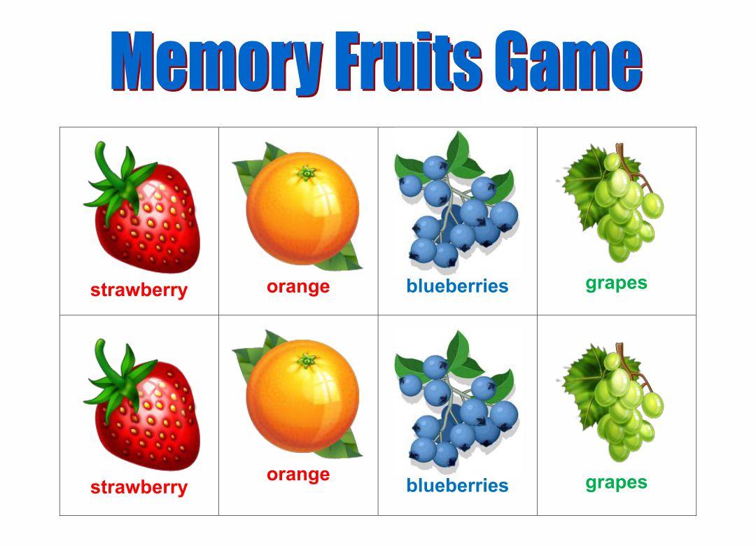 Printable Memory Matching Games