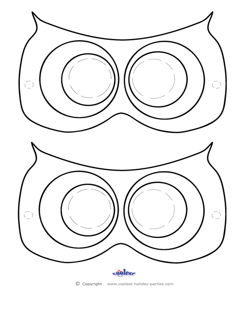 7 Images of Owl Mask Printable Template
