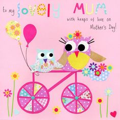 5 Images of Mother's Day Cards With Free Printable Owls To Color