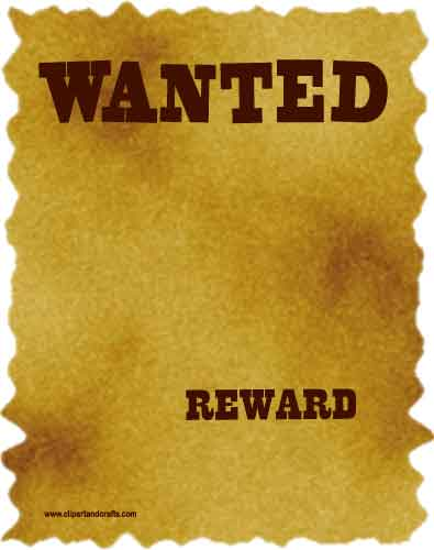 8 Images of Printable Western Wanted Posters