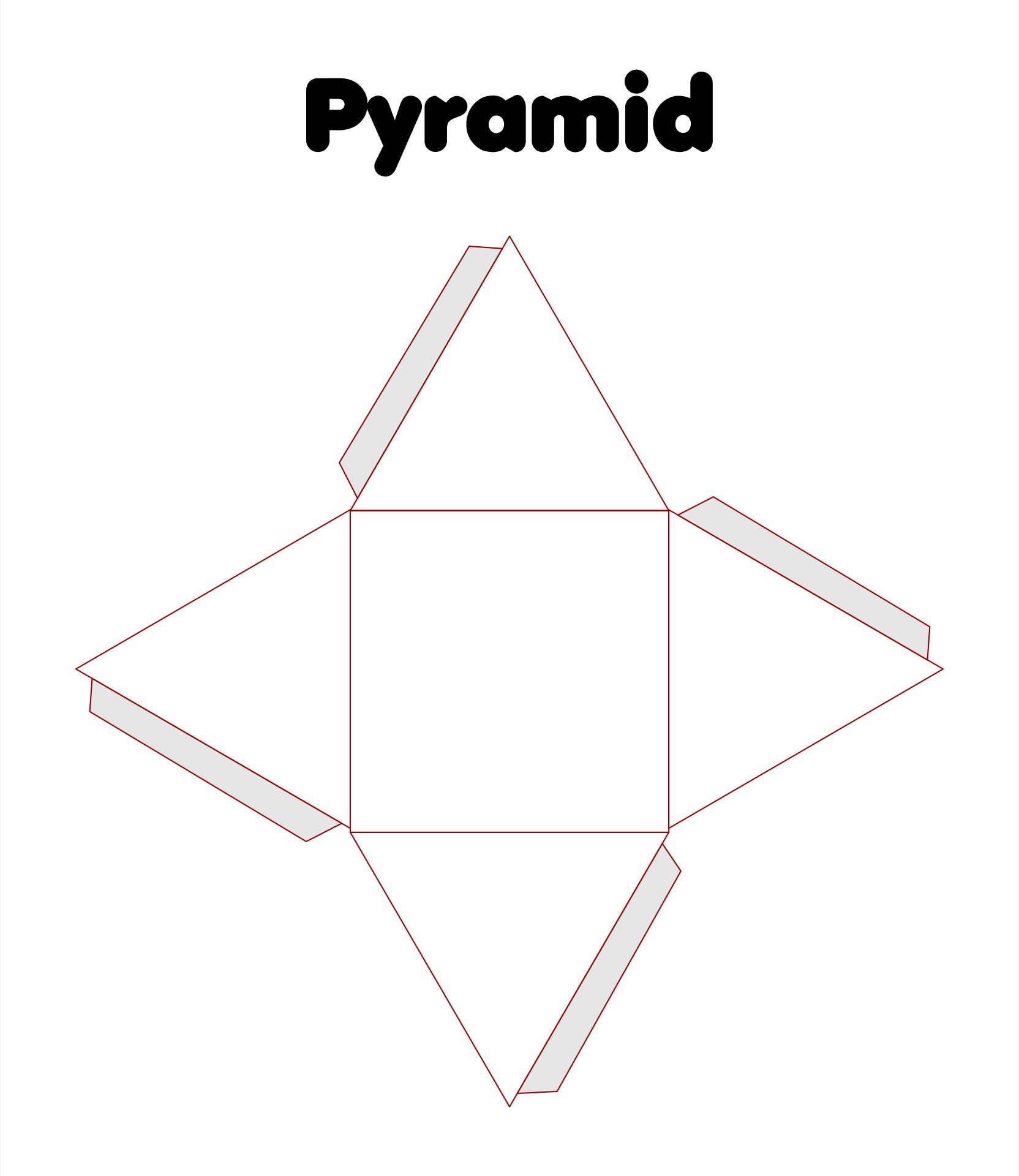 Pyramid 3D Shape Templates Printable