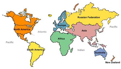 4 Best Images of Printable World Map With Countries