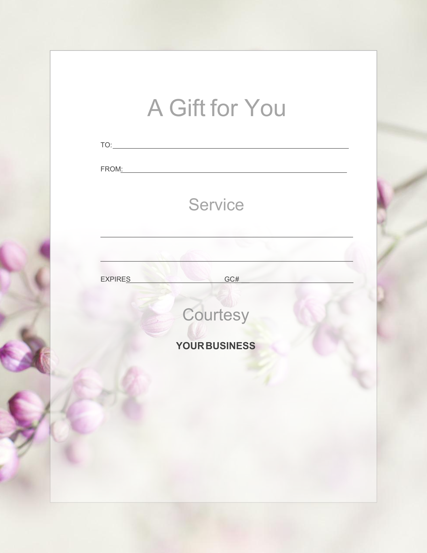 5 best images of printable massage gift certificate for Spa gifi