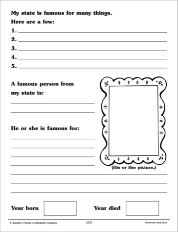 State Report Booklet Template