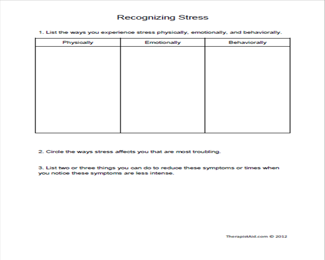 Printables Stress Management Worksheets printables stress management worksheets safarmediapps 7 best images of printable group worksheets