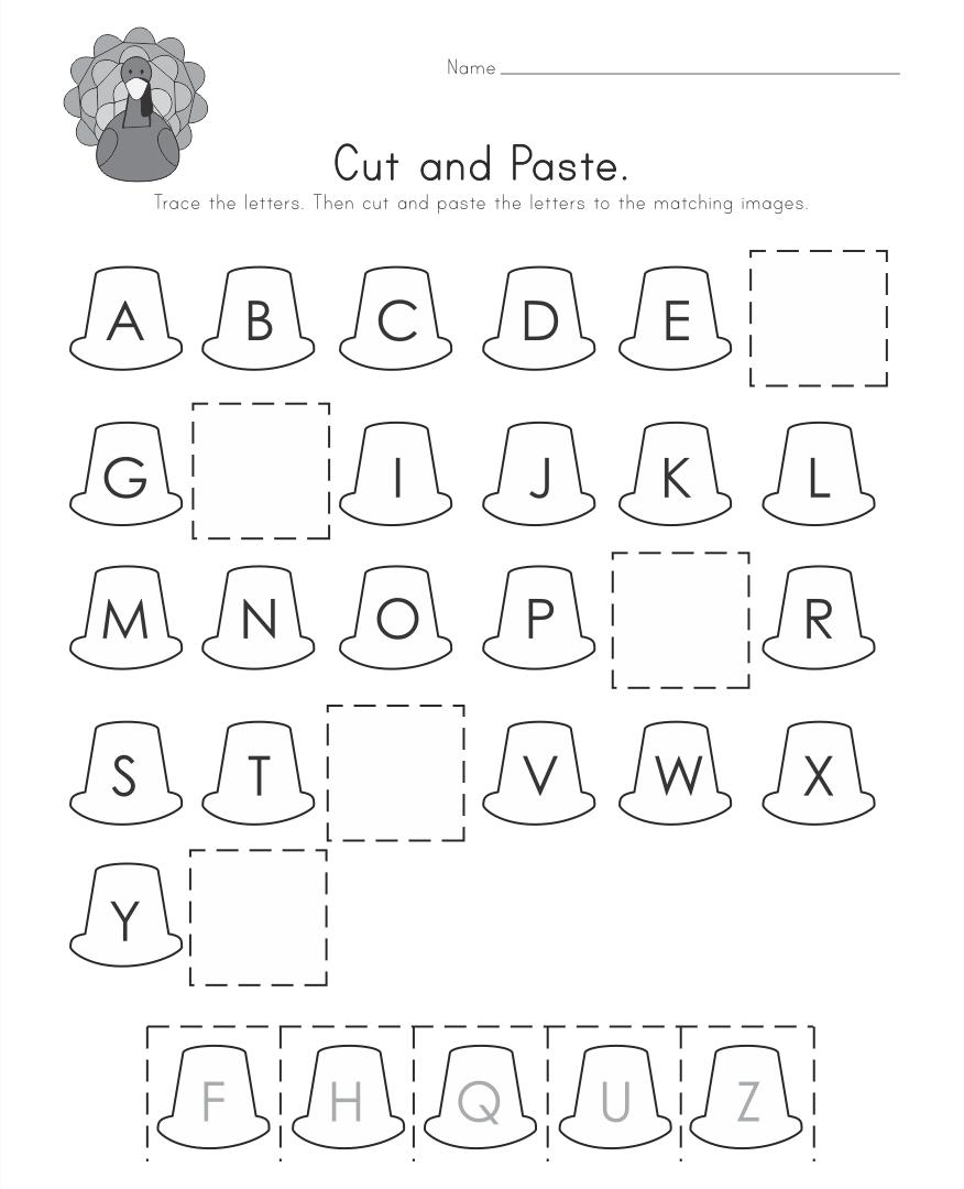 Thanksgiving Printable Alphabet Worksheets