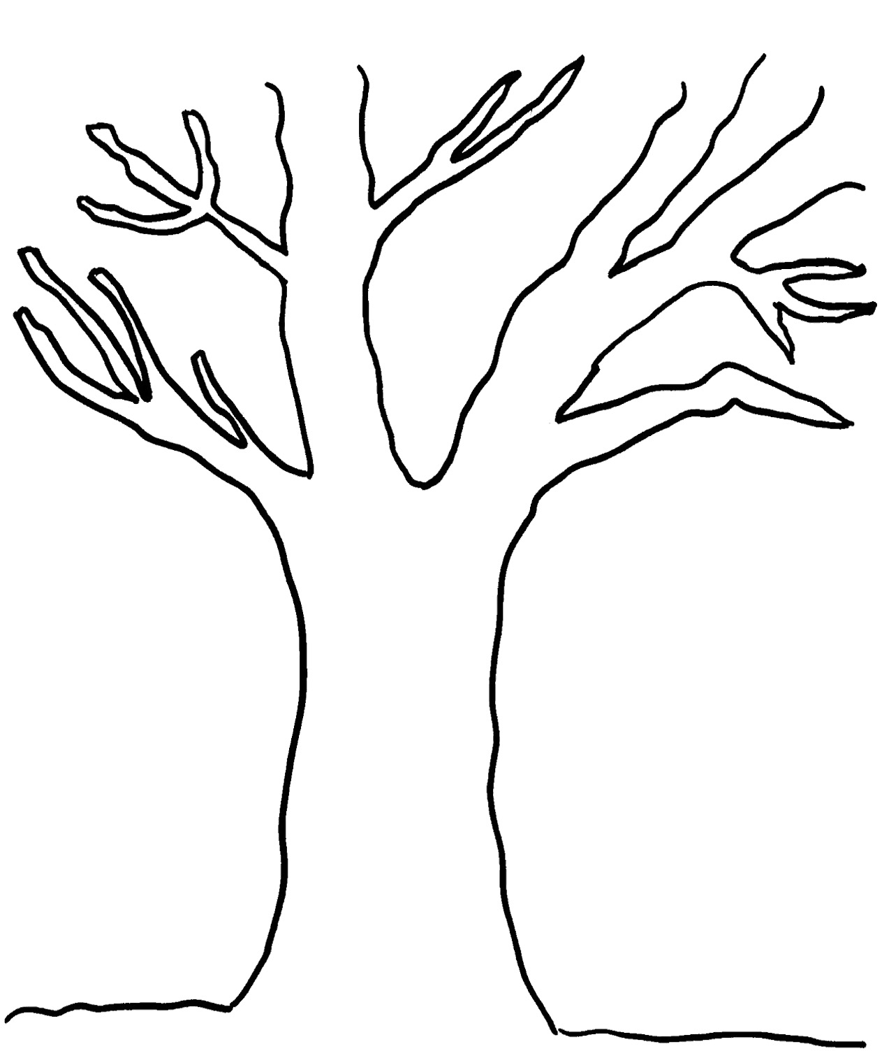 4 Images of Tree Outline Printable