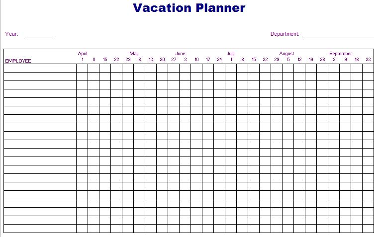 ... Attendance Calendar Template 2016 & Employee Vacation Calendar