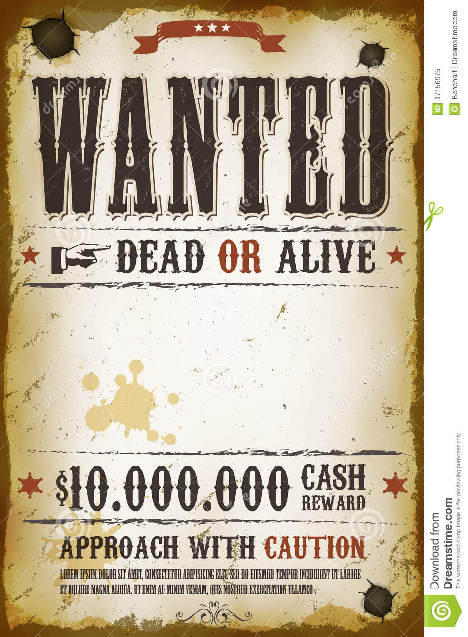 free wanted poster template - 8 best images of free printable western wanted posters