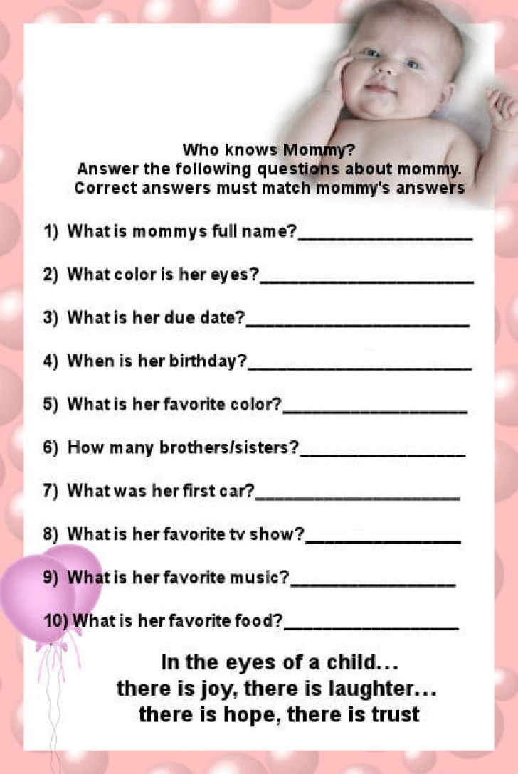 best baby shower game who knows mommy best baby shower game and who