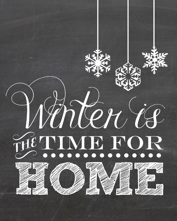 6 Images of Free Winter Chalkboard Printables