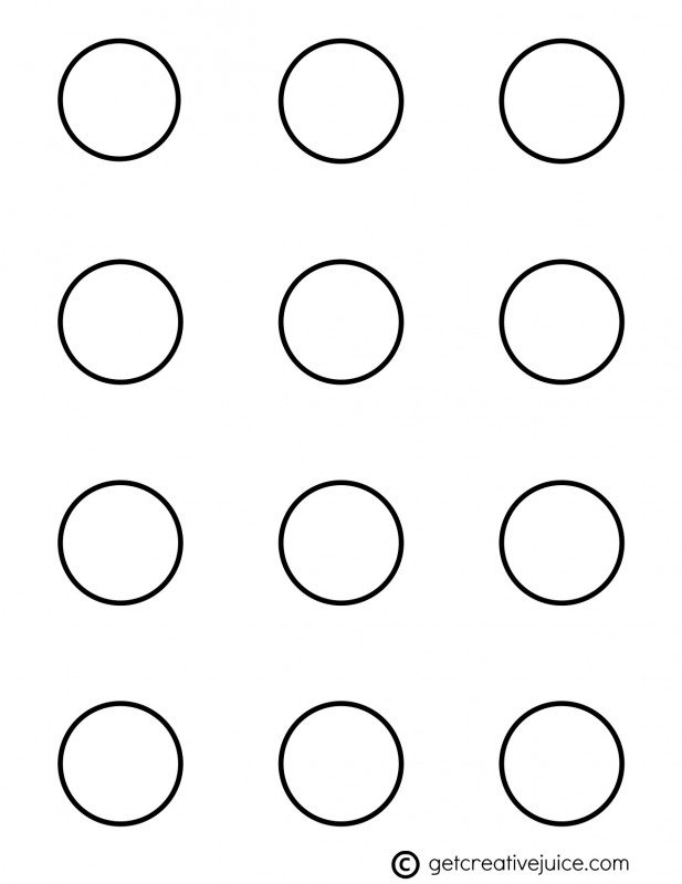 4 Images of 5 Inch Circle Template Printable