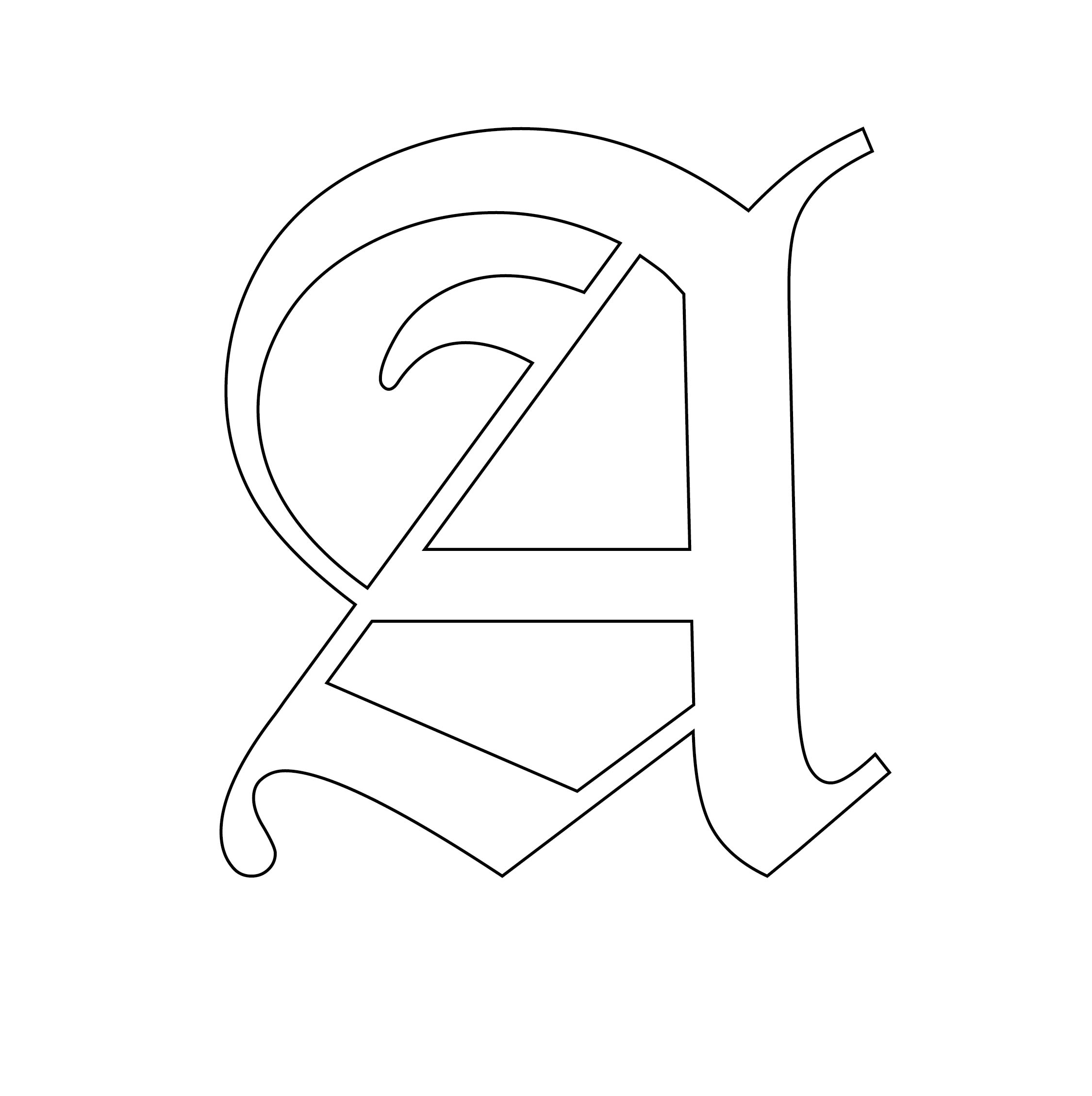 4 Inch Letter Stencils Printable Free