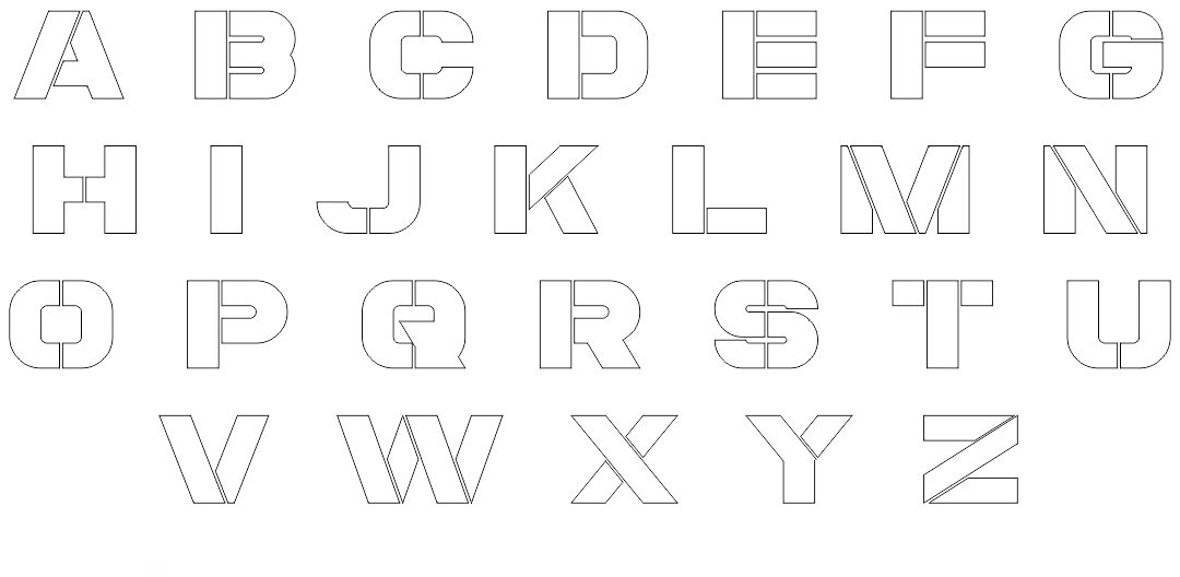 4 Inch Letter Stencils Printable