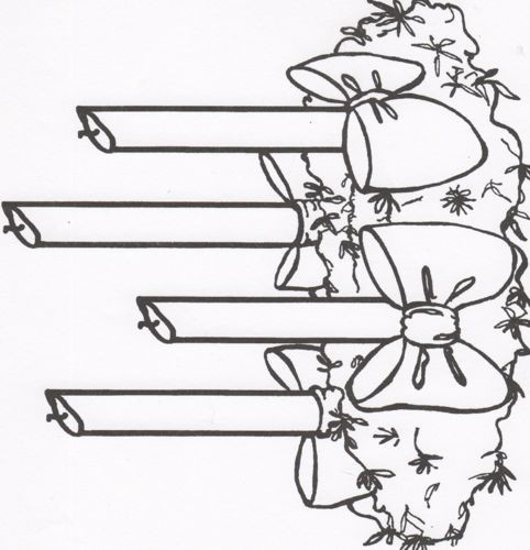 7 Images of Advent Wreath Coloring Pages Printable