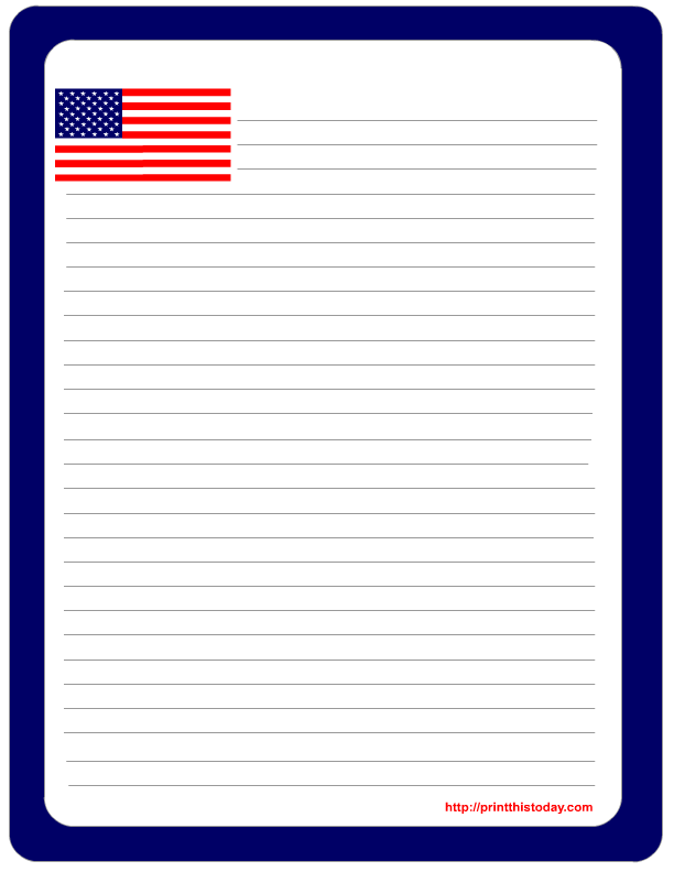 patriotic writing paper with lines printable Theme writing paper, writing paper, border paper, themed border paper, themed writing paper, theme lined paper, theme border writing paper showing 1–18 of 111 results.