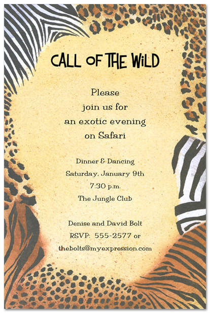 5 Images of Animal Print Birthday Invitations Printable
