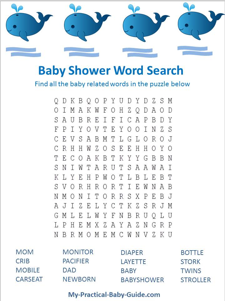 7 Images of Free Printable Nautical Baby Shower Word Search Games