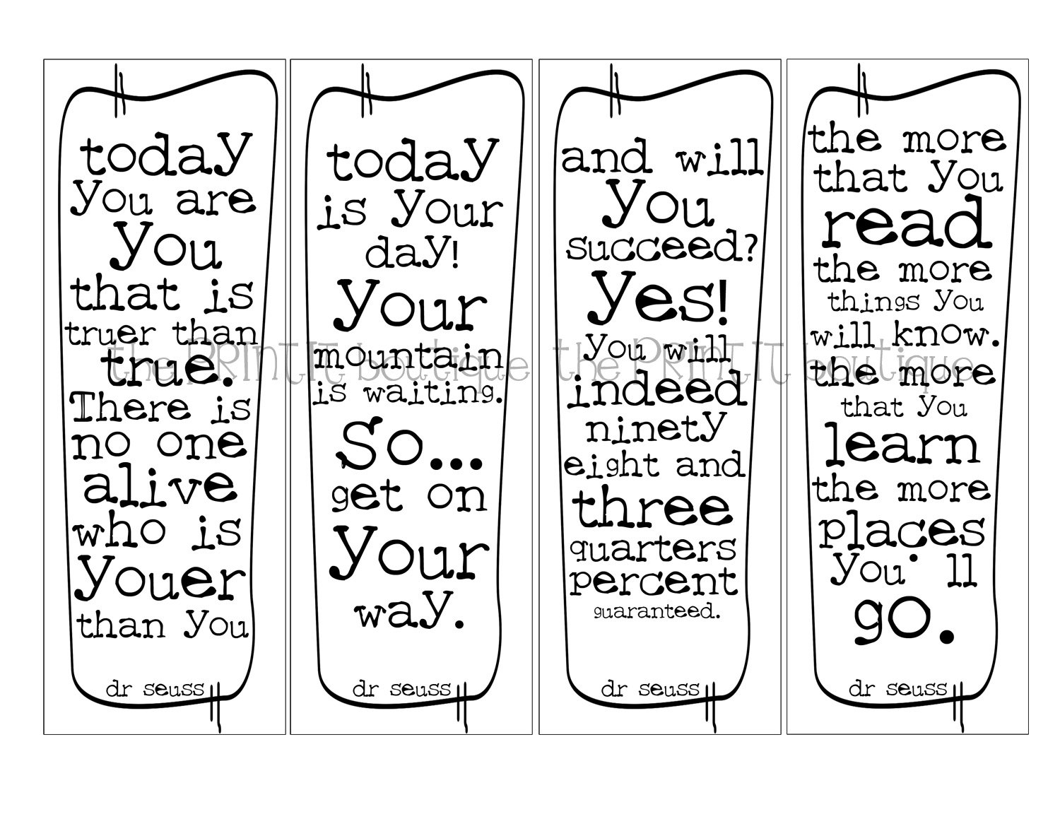 free printable bookmarks templates - 8 best images of free inspirational printable bookmarks