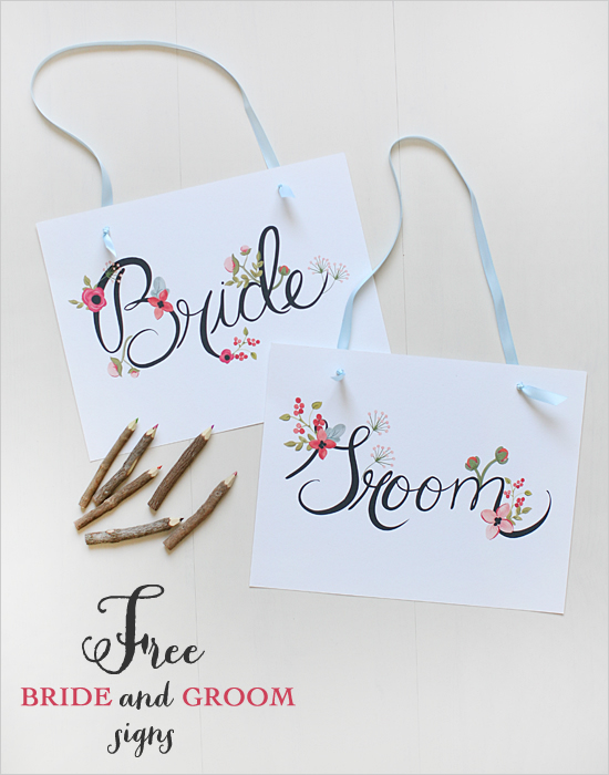 7 Images of Bride And Groom Free Printables