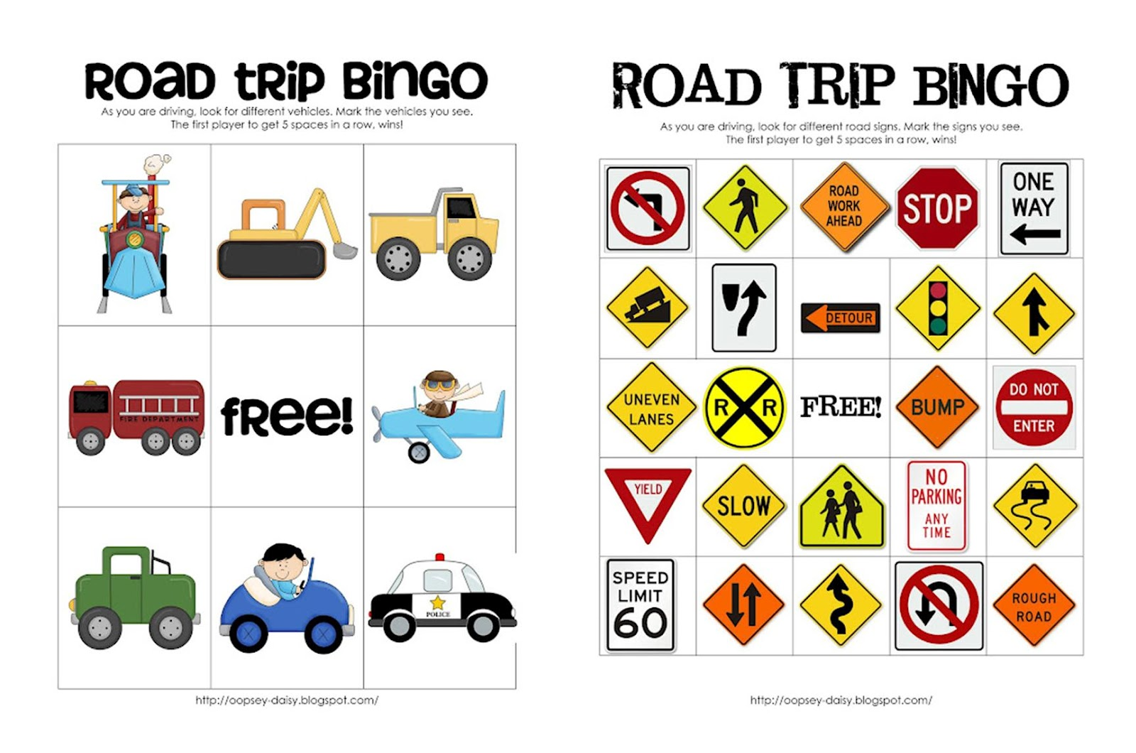 6 Images of Road Trip Printables For Preschoolers