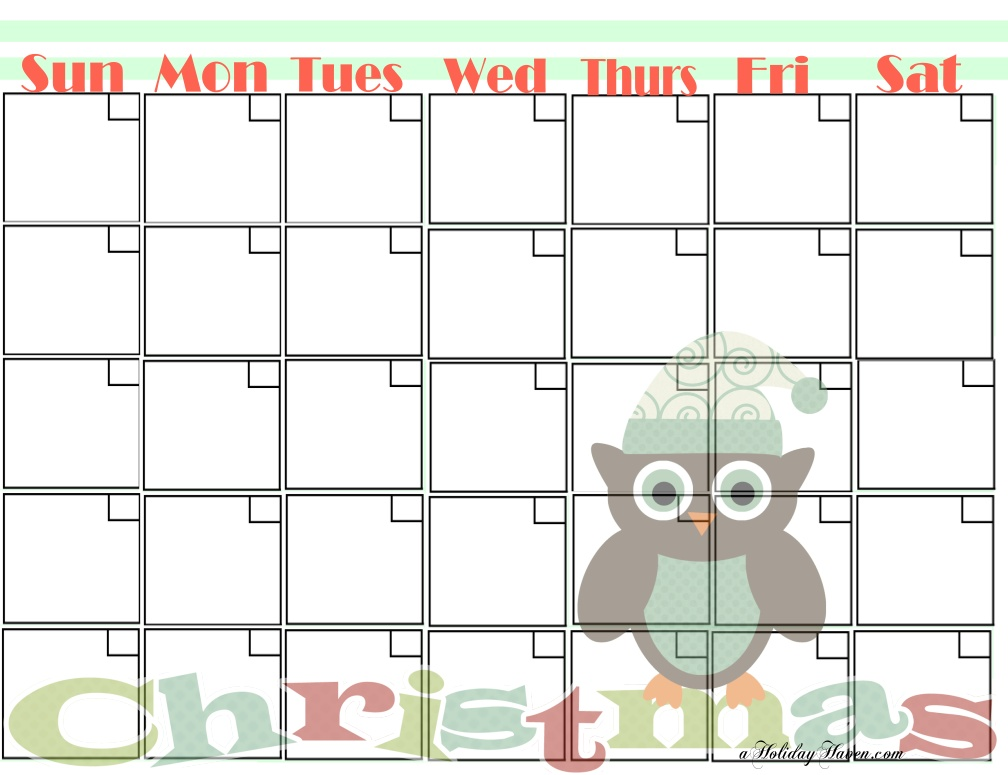 Images of Free Cute Printable Calendars Blank - Cute Blank Monthly ...