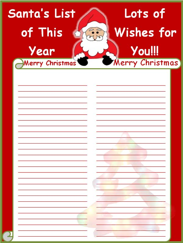 list free printable christmas card list template christmas list