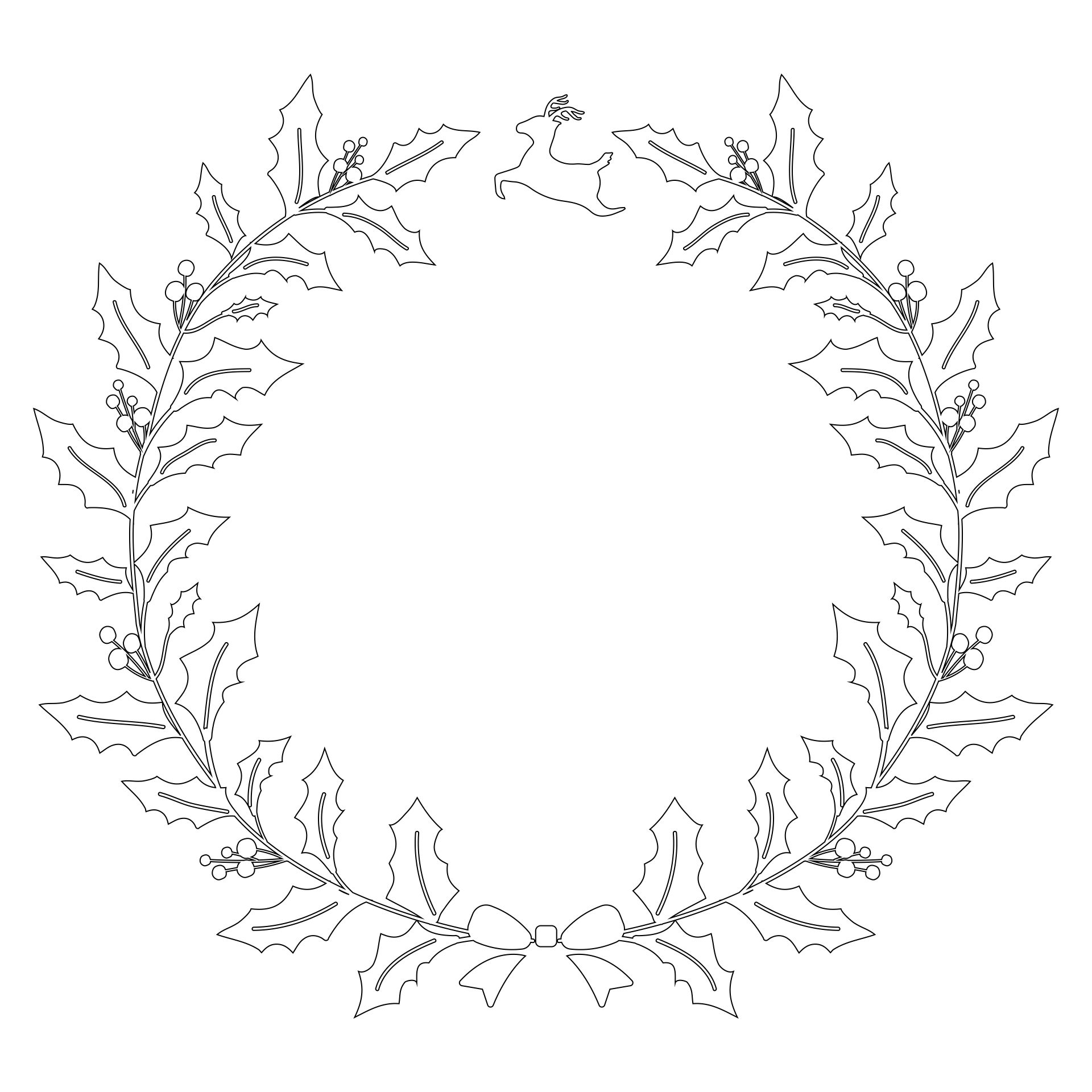 Christmas Wreath Template Printable