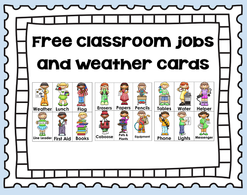 kindergarten clipart classroom jobs - photo #20